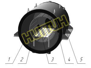 Цельнографитовый нагревательный модуль НИТТИН